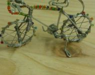 wire and bead bicycle keyring