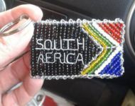 wire and bead south africa keyring