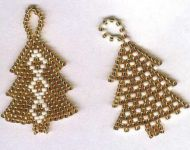 beaded Christmas trees 4